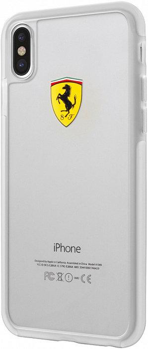Чехол Ferrari для iPhone X/Xs, прозрачный