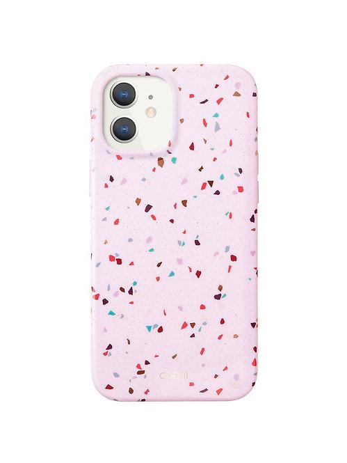 Чехол для iPhone 12 mini (5.4) COEHL Terrazzo Pink