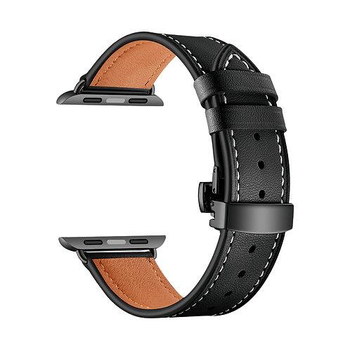 Ремешок Lyambda Annet Mancini кожаный для Apple Watch 38/40 mm, Black