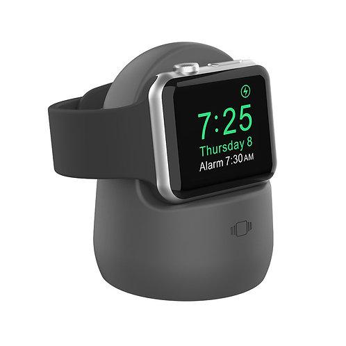 Подставка Deppa для зарядки Apple Watch 1/2/3/4/5, силикон, серый