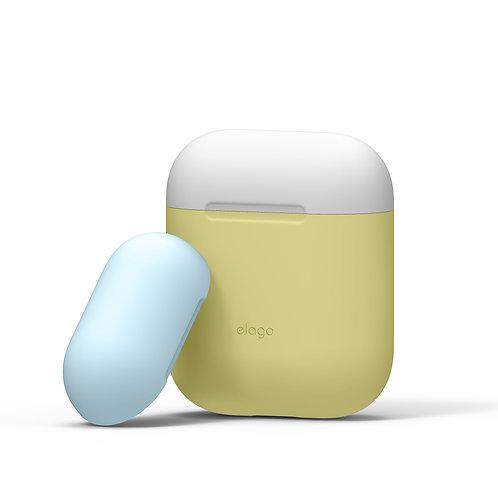 Чехол Elago Silicone DUO для AirPods, желтый