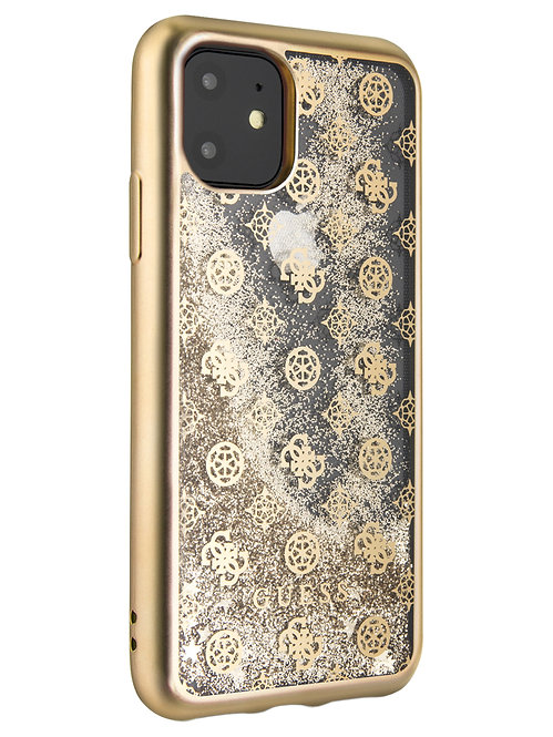 Чехол Guess для iPhone 11, золотой