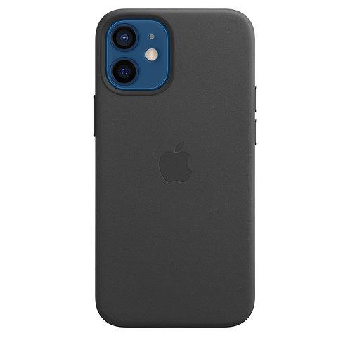 Кожаный чехол MagSafe для iPhone 12 mini, чёрный цвет