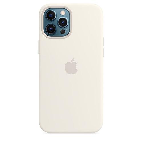Силиконовый чехол MagSafe для iPhone 12 Pro Max, белый цвет