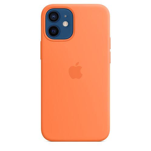 Силиконовый чехол MagSafe для iPhone 12 mini, цвет «кумкват»