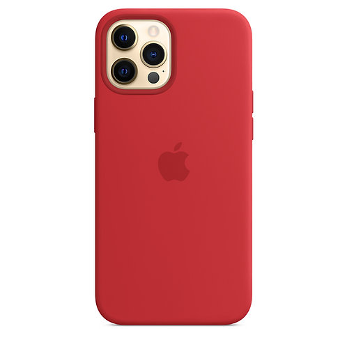 Силиконовый чехол MagSafe для iPhone 12 Pro Max, красный цвет (PRODUCT)RED