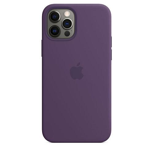 Силиконовый чехол MagSafe для iPhone 12 Pro Max, цвет «аметист»