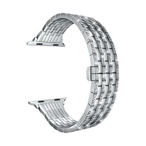 Ремешок ANNET MANCINI из нержавеющей стали для Apple Watch 38/40 мм серебристый