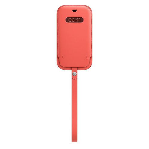 Кожаный чехол-конверт MagSafe для iPhone 12/12 pro, цвет «розовый цитрус»