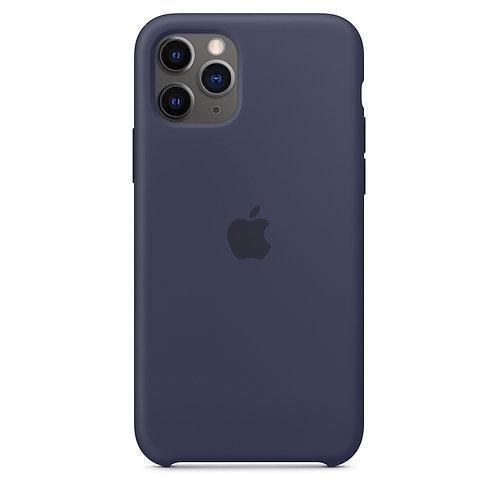 Силиконовый чехол для iPhone 11 Pro Max, тёмно-синий цвет