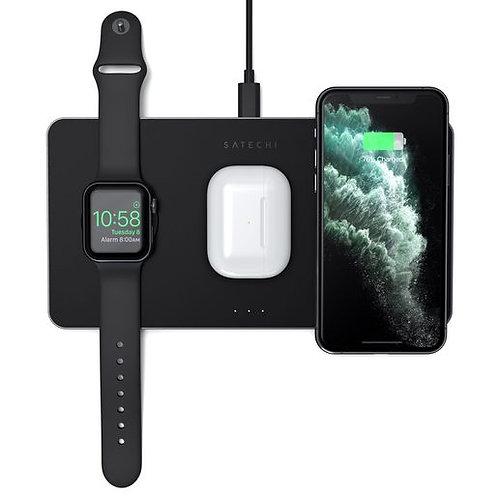 БЗУ Satechi Trio Wireless Charging Pad для телефона, часов и наушников.