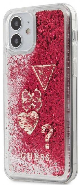Пластиковый чехол-накладка для iPhone 12 mini Guess Liquid Glitter Charms Hard