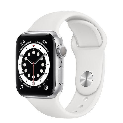 Apple Watch S6 40mm Корпус из алюминия серебристого цвета Спортивный ремешок