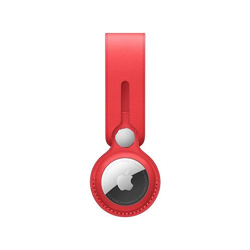Кожаный брелок-подвеска Apple для AirTag Leather Loop (PRODUCT)RED (MK0V3ZM/A)
