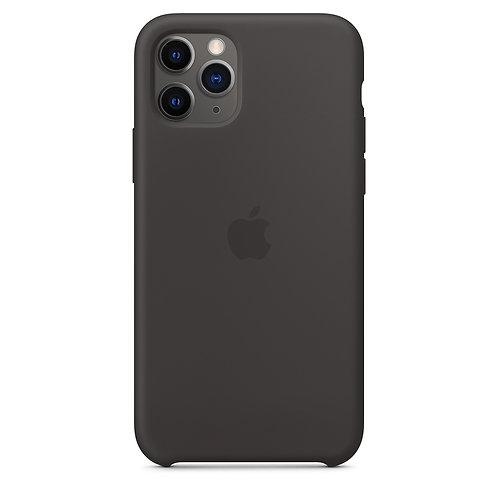 Силиконовый чехол для iPhone 11 Pro Max, чёрный цвет