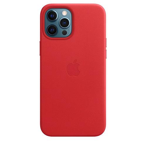 Кожаный чехол MagSafe для iPhone 12 Pro Max, (PRODUCT)RED