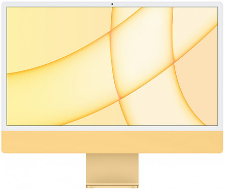 """Моноблок Apple iMac 24"""" Retina 4,5K, M1 (8-core GPU), 8 ГБ, 256 ГБ (желтый)"""