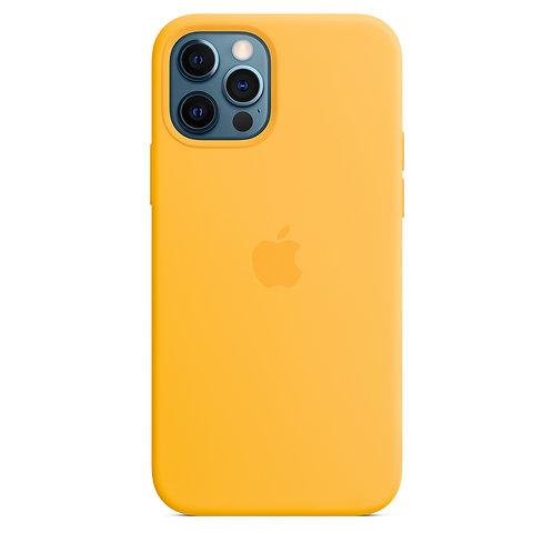 Силиконовый чехол MagSafe для iPhone 12 Pro Max, ярко‑жёлтый цвет