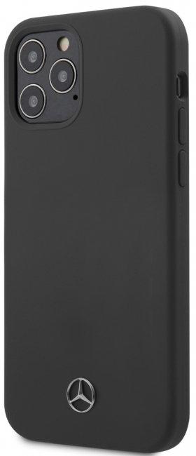 Чехол-накладка для iPhone 12/12 Pro Mercedes Liquid silicone Hard, серый