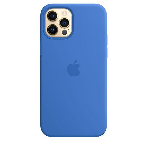 Силиконовый чехол MagSafe для iPhone 12 Pro Max, цвет «Капри»