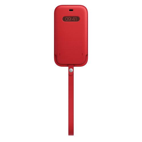Кожаный чехол-конверт MagSafe для iPhone 12/12 pro, (PRODUCT)RED