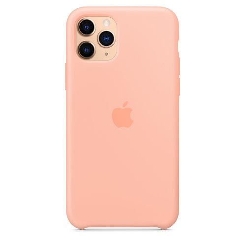 Силиконовый чехол для iPhone 11 Pro Max, цвет «розовый грейпфрут»