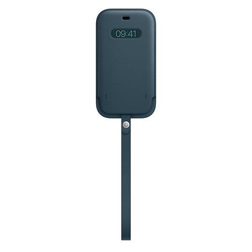 Кожаный чехол-конверт MagSafe для iPhone 12/12 pro, цвет «балтийский синий»