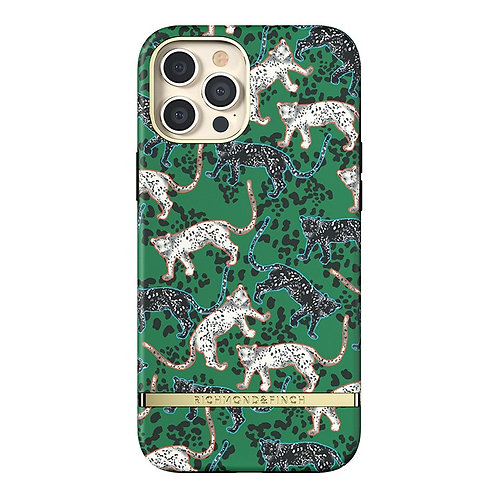 Richmond & Finch / Чехол для iPhone 12 Pro Max (6.7) FW20 Green Leopard