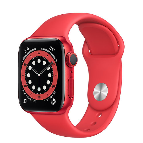 Apple Watch S6 44mm Корпус из алюминия цвета (PRODUCT)RED • Спортивный ремешок