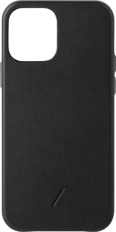 Чехол Native Union Clic Classic для iPhone 12 /12 Pro, кожа, черный