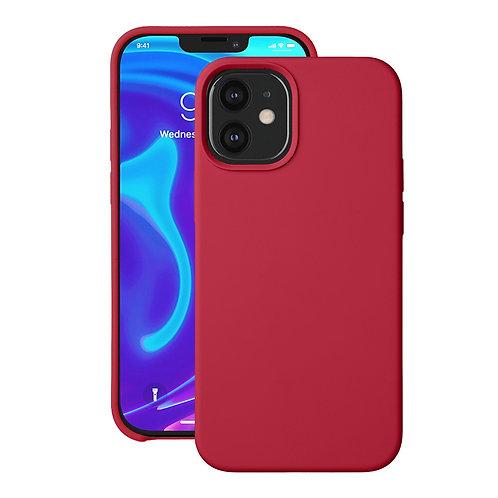 Накладка Deppa Liquid Silicone для Apple iPhone 12 mini, красный, картон   87786