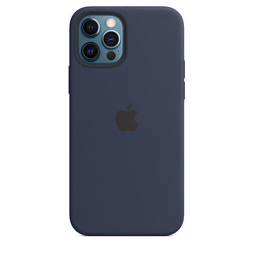 Силиконовый чехол MagSafe для iPhone 12 и iPhone 12 Pro, цвет тёмный ультрамарин