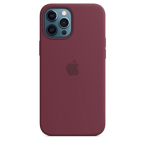 Силиконовый чехол MagSafe для iPhone 12 Pro Max, сливовый цвет