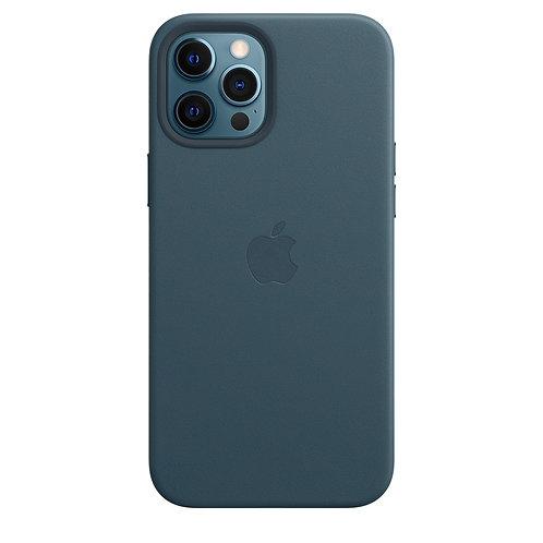 Кожаный чехол MagSafe для iPhone 12 и iPhone 12 Pro, цвет «балтийский синий»