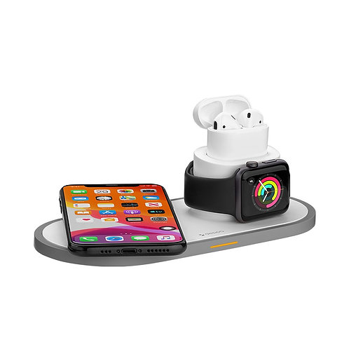 Зарядная станция Deppa 3 в 1: iPhone, Apple Watch, Airpods, беспроводная, 15W