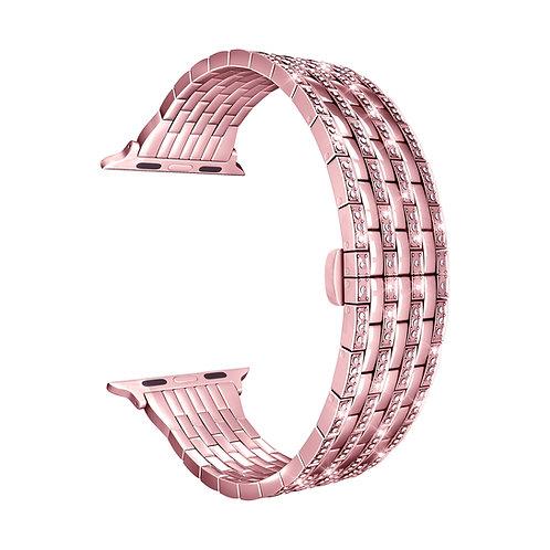 Ремешок ANNET MANCINI из нержавеющей стали для Apple Watch 38/40 мм розовый