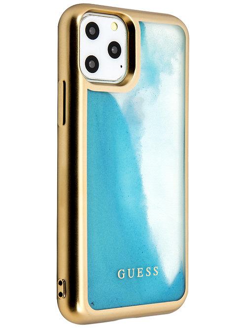 Чехол Guess для iPhone 11 Pro, голубой