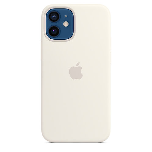 Силиконовый чехол MagSafe для iPhone 12 mini, белый цвет