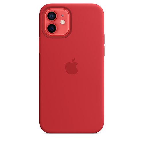 Силиконовый чехол MagSafe для iPhone 12 и iPhone 12 Pro,  (PRODUCT)RED