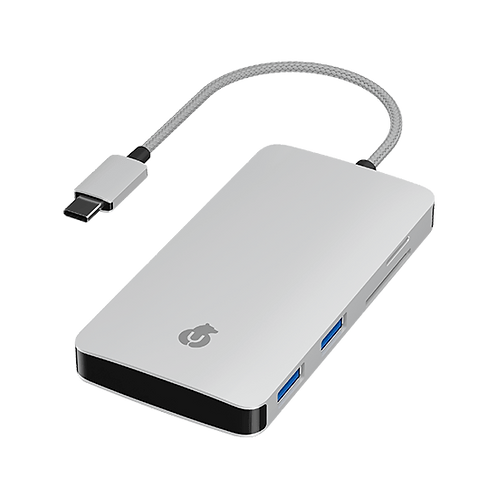 uBear USB адаптер 7в1 Aluminum Type-C Multimedia Adapter.