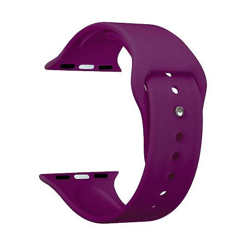 Ремешок Deppa Band Silicone для Apple Watch 42/44 mm, силиконовый, бургунди