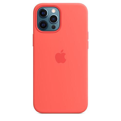 Силиконовый чехол MagSafe для iPhone 12 Pro Max, цвет «розовый цитрус»