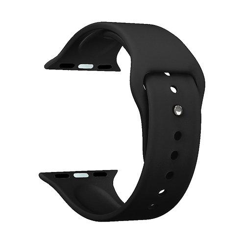 Ремешок Deppa Band Silicone для Apple Watch 38/40 mm, силиконовый, черный