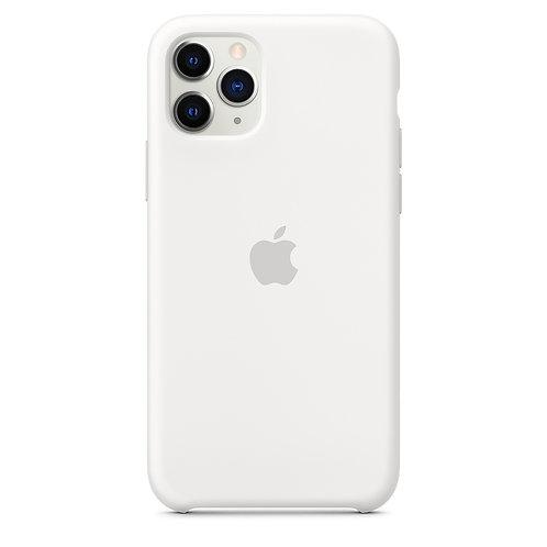 Силиконовый чехол для iPhone 11 Pro, белый цвет