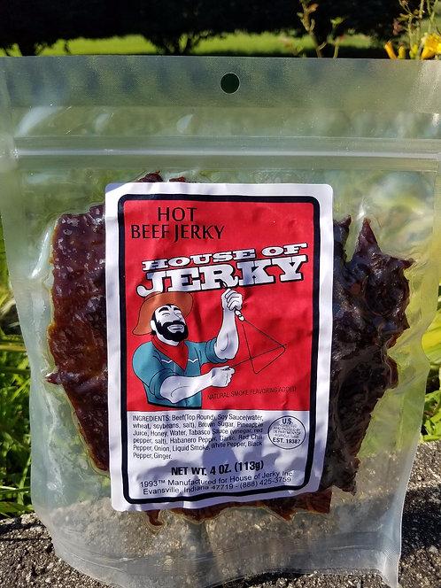 Beef Jerky - Hot - 4oz.