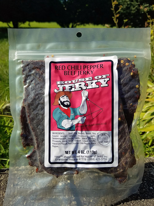 Beef Jerky - Red Chili Pepper - 4oz.