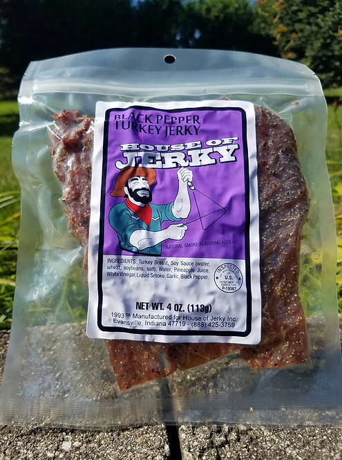 Turkey Jerky - Black Pepper - 4oz.
