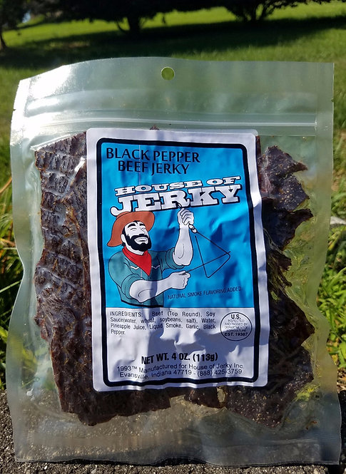 Beef Jerky - Black Pepper - 4oz.