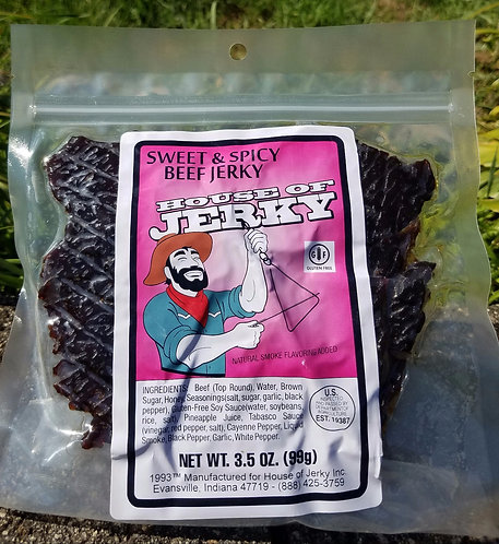 Beef Jerky - Sweet & Spicy - 3.5oz. - GLUTEN FREE!