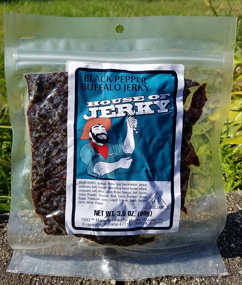 Buffalo Jerky - Black Pepper - 3.5oz.